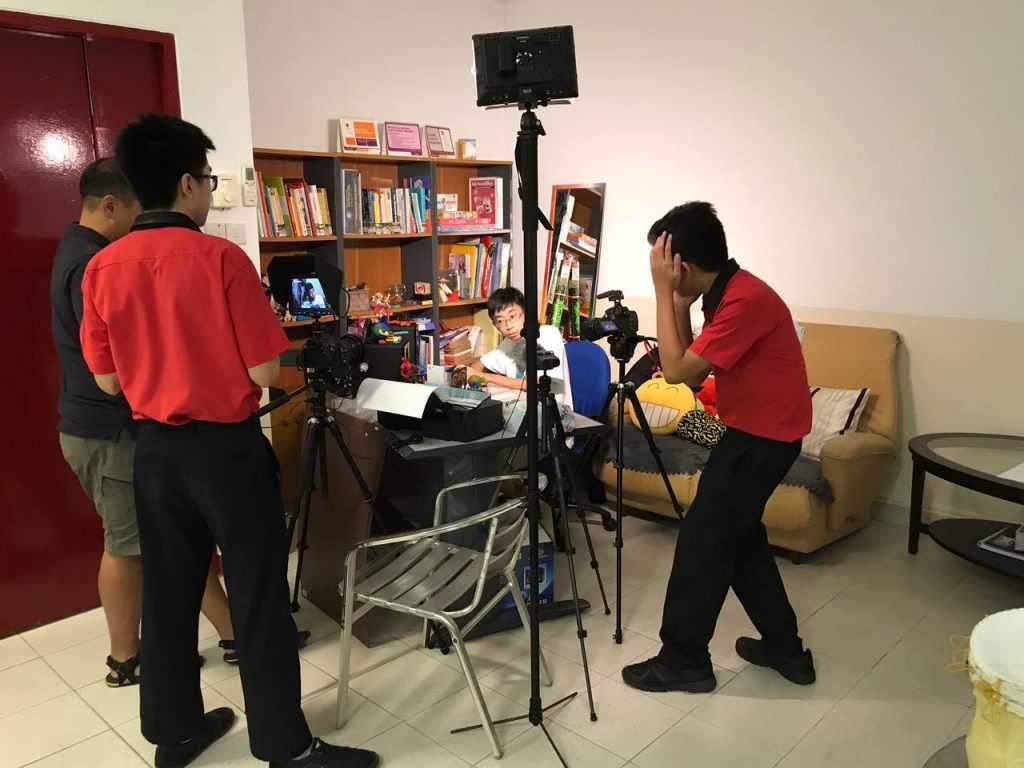Behind the scenes of our SDMA video about cyberbullying