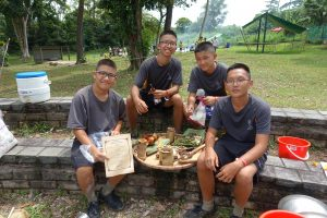 Sarimbun Scouts chefs and their dishes