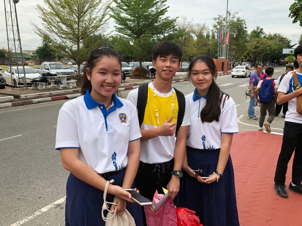 Students from JAKKAMKANATHORN Secondary School