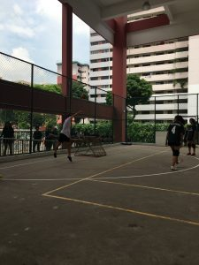Yuxin giving her best throw