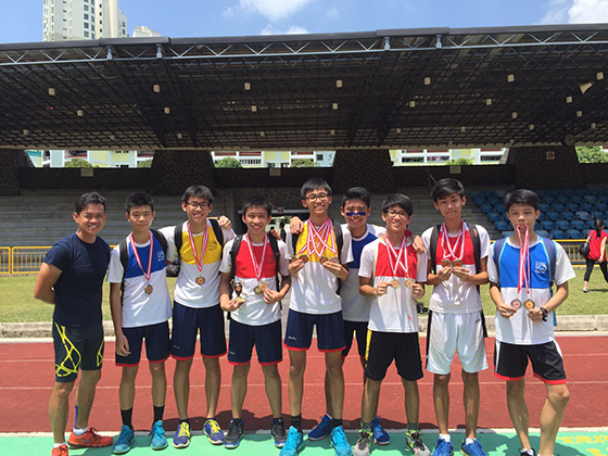 Basketball CCA won 2 Golds for 4X100m and 4X 400m Inter CCA Competition held on ZSS Sports Day at Gombak Stadium