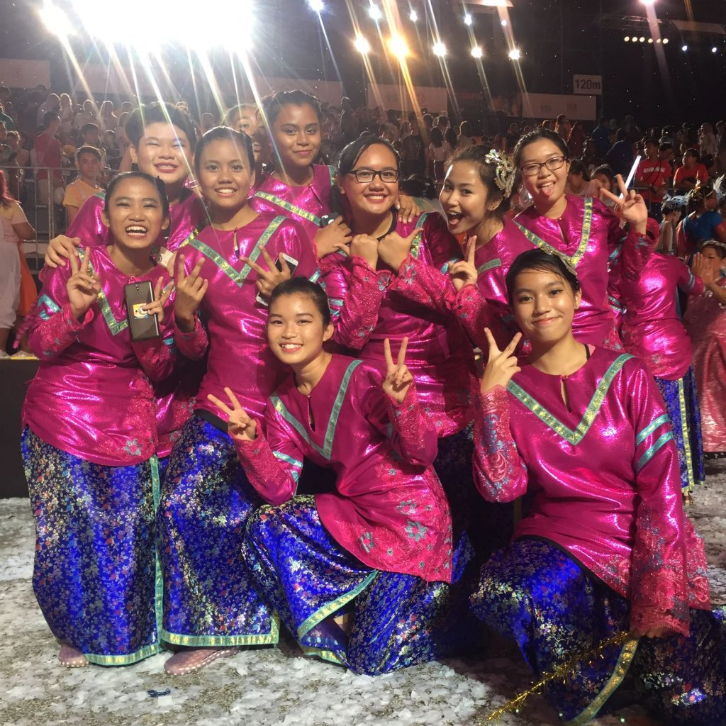 Our girls at the end of the Chingay performance
