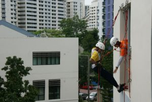 Abseiling down the walls of Zhenghua